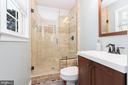 Modernized master bathroom - 108 CLORE DR, STAFFORD