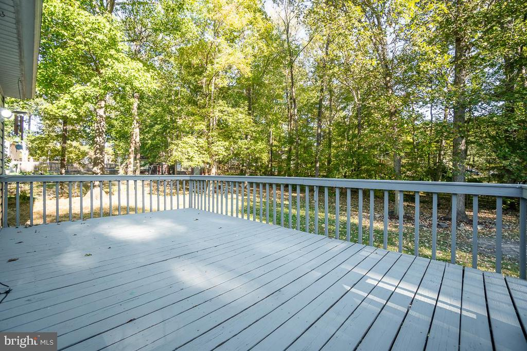 Spacious back deck off of the 2nd floor. - 108 CLORE DR, STAFFORD