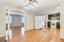 GOOD FLOW INTO KITCHEN DINING AREA! - 14564 WOODLAND RIDGE DR, CENTREVILLE