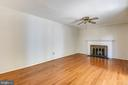 LARGE FAMILY ROOM WITH HARDWOODS! - 14564 WOODLAND RIDGE DR, CENTREVILLE