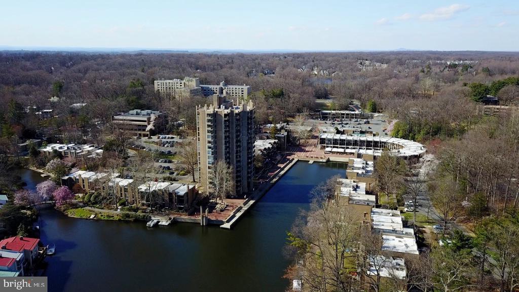 Lake Anne Aerial View - 1656 CHIMNEY HOUSE RD #1656, RESTON
