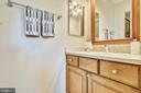 Remodeled  master bathroom. - 102 ROBERTS CT, ALEXANDRIA
