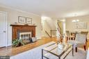 Light  living and dining rooms with fireplace - 102 ROBERTS CT, ALEXANDRIA