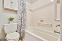 Hall family bathroom with Toto toilet. - 102 ROBERTS CT, ALEXANDRIA