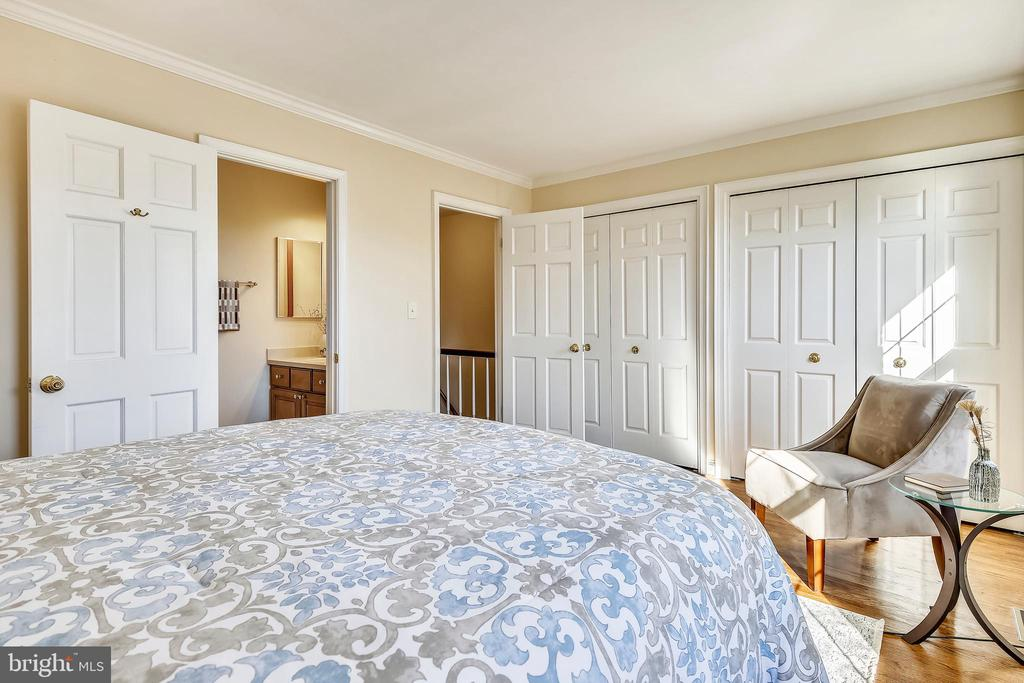 Two large closets in the master - 102 ROBERTS CT, ALEXANDRIA