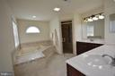 The master bathroom. - 38 PRESIDENTIAL LN, STAFFORD