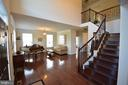 Front entry and living room. - 38 PRESIDENTIAL LN, STAFFORD