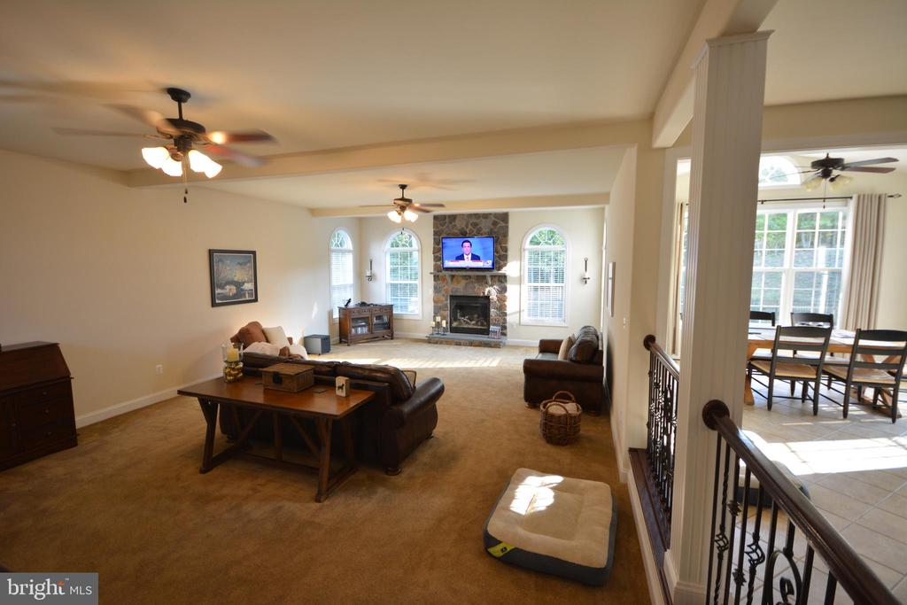 The family room is next to the home office. - 38 PRESIDENTIAL LN, STAFFORD