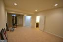 The basement media room with powder room. - 38 PRESIDENTIAL LN, STAFFORD