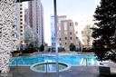 Heated outdoor pool with spa - 11990 MARKET ST #1914, RESTON