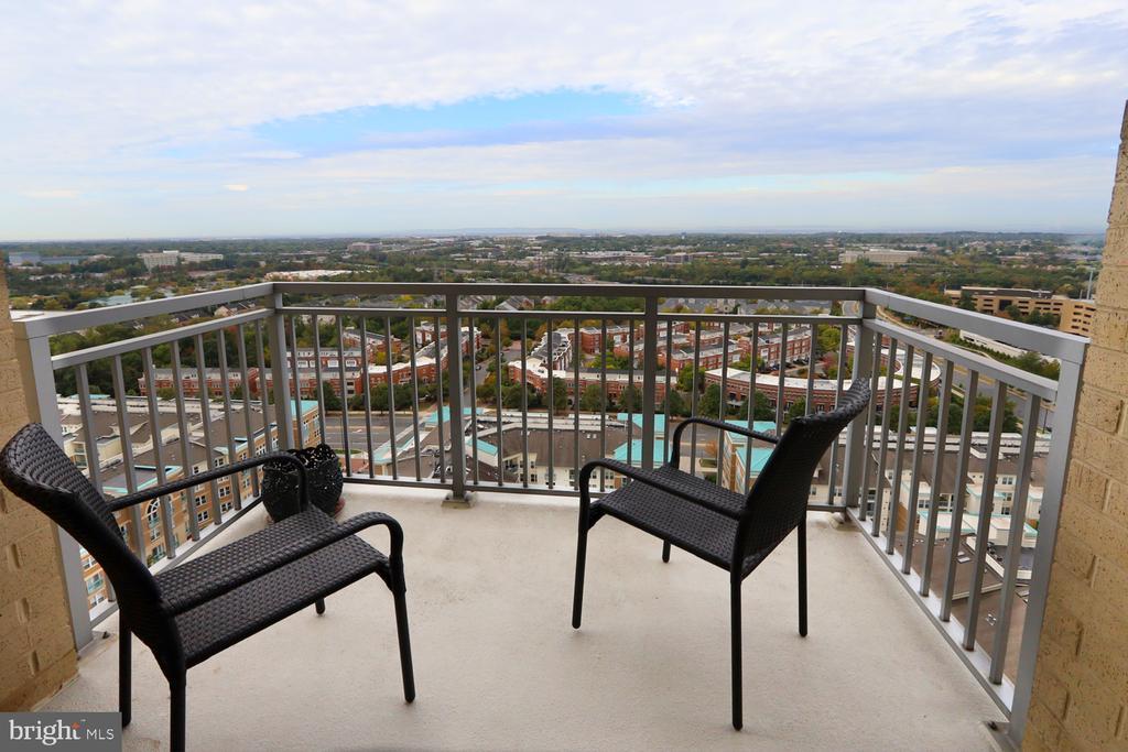 Balcony with gorgeous western views - 11990 MARKET ST #1914, RESTON