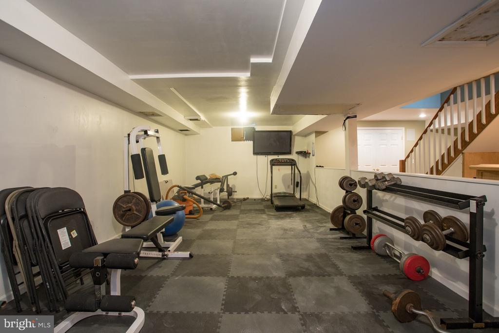 Workout Area in Basement - 201 MANOR DR, MIDDLETOWN