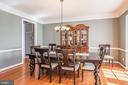 Elegant Dining Room - 18555 DETTINGTON CT, LEESBURG