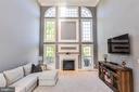 Beautiful fireplace and windows - 18555 DETTINGTON CT, LEESBURG