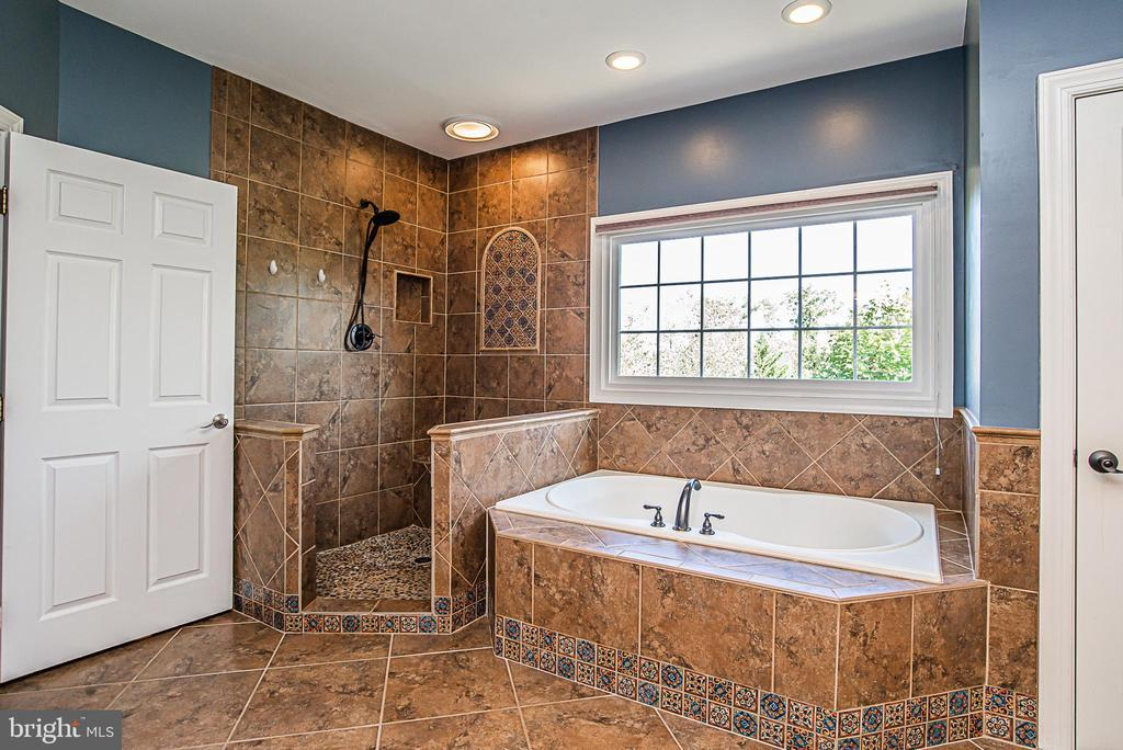 Deluxe shower and separate tub - 18555 DETTINGTON CT, LEESBURG