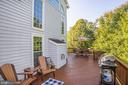 Rear Deck perfect for outdoor entertaining - 18555 DETTINGTON CT, LEESBURG