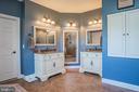 Master Bath with Double Vanities - 18555 DETTINGTON CT, LEESBURG