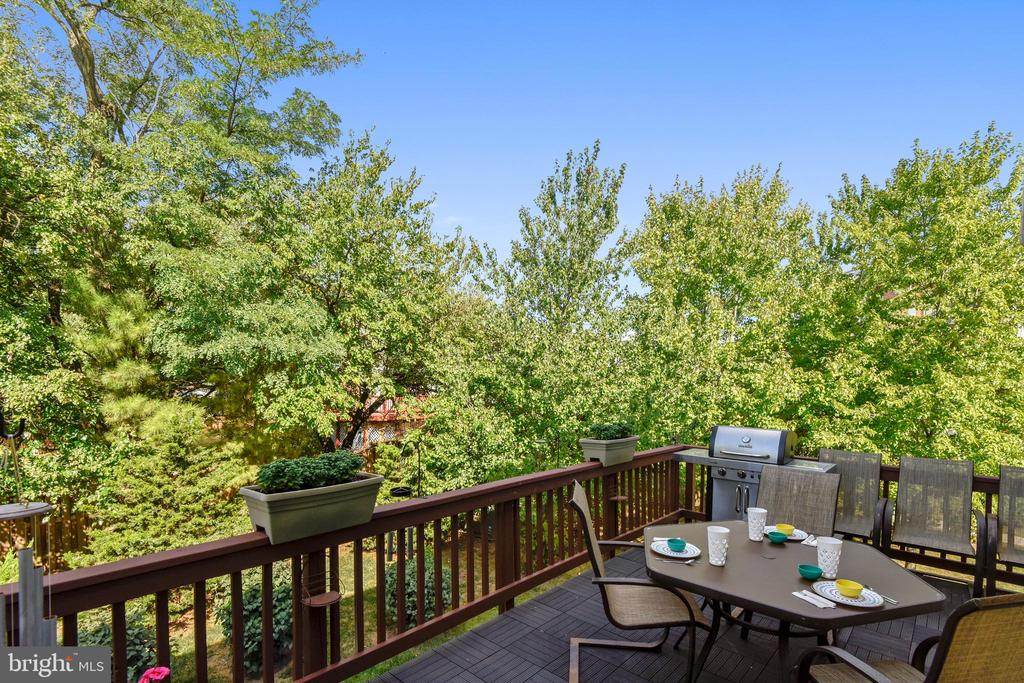 DECK BACKING TO TREES! - 124 QUIETWALK LN, HERNDON