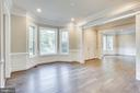 Light and bright dining room - 4112 DOVEVILLE LN, FAIRFAX
