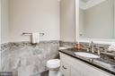 Large main level half bathroom - 4112 DOVEVILLE LN, FAIRFAX