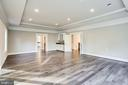 Expansive master bedroom with tray ceilings - 4112 DOVEVILLE LN, FAIRFAX