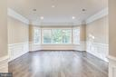 Second family room upstairs with gorgeous trim - 4112 DOVEVILLE LN, FAIRFAX