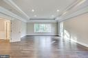 Custom trim and large window to backyard - 4112 DOVEVILLE LN, FAIRFAX