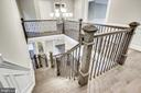 Gorgeous stairs welcome you upstairs - 4112 DOVEVILLE LN, FAIRFAX