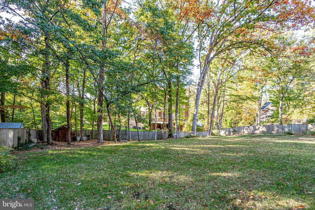 Entertain and play outside in the 1/2 acre lot - 4112 DOVEVILLE LN, FAIRFAX