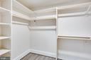 Walk in closet for bedroom - 4112 DOVEVILLE LN, FAIRFAX