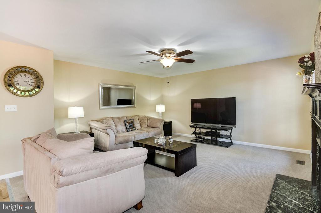 Family room with new carpet - 9515 BALLAGAN CT, BRISTOW
