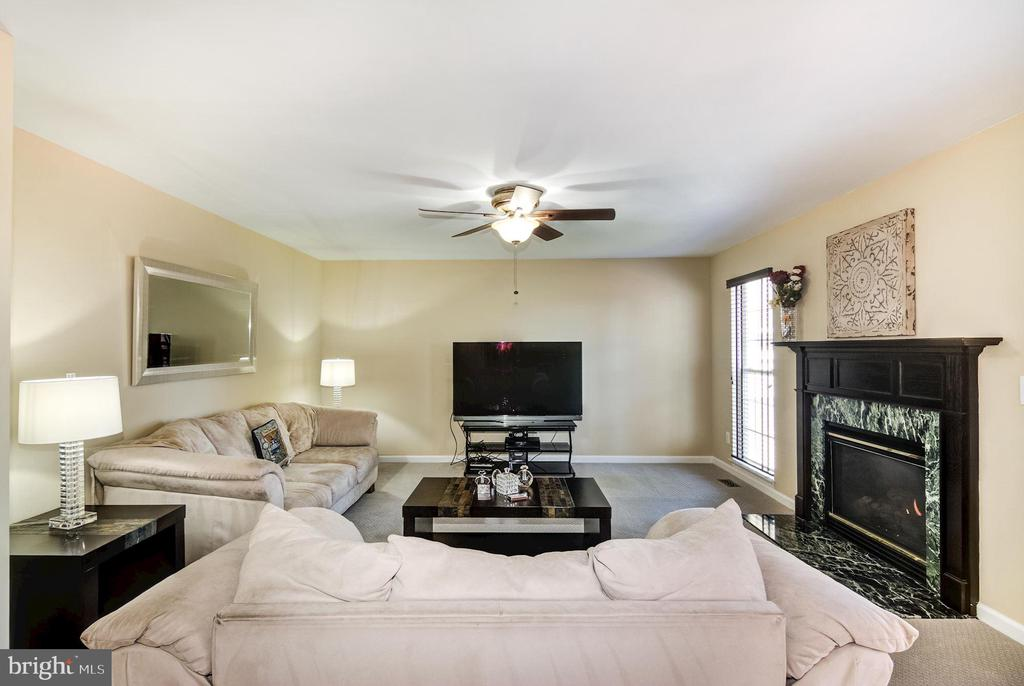 Family room with cozy gas fireplace - 9515 BALLAGAN CT, BRISTOW