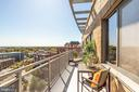 No overhang over balcony allowing more light - 2001 15TH ST N #1506, ARLINGTON