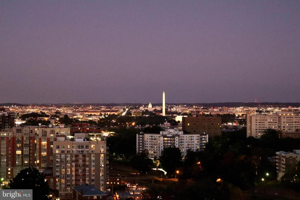 Twilight view from the unit - 2001 15TH ST N #1506, ARLINGTON