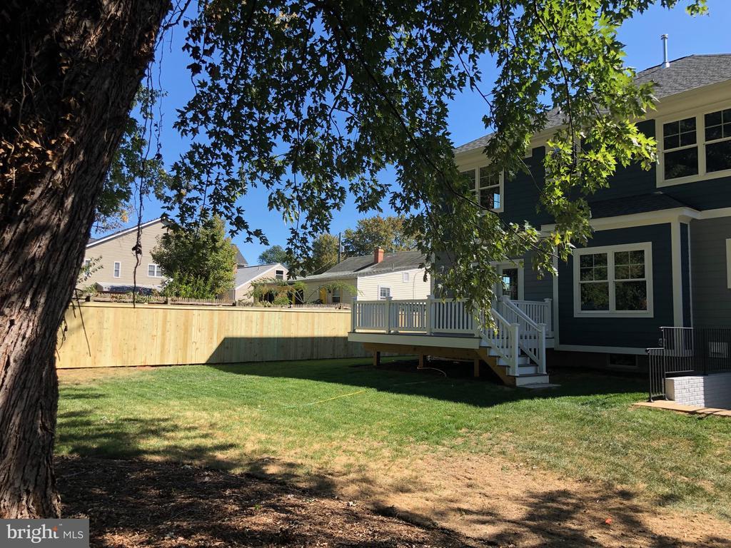 Large Shade Tree in Backyard - Deck view - 7534 LISLE AVE, FALLS CHURCH