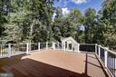 Trex Deck surrounded by privacy - 10614 HUNTER STATION RD, VIENNA