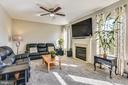 Cozy Family Room With Gas FirePlace - 317 BAISH DR SE, LEESBURG
