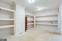 2nd strroage area with built in shelving - 7002 HIGHLAND MEADOWS CT, ALEXANDRIA