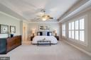 Large master suite w/ tray ceilings - 7002 HIGHLAND MEADOWS CT, ALEXANDRIA