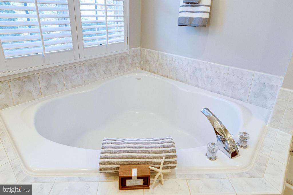 Master bath with garden soaking tub - 7002 HIGHLAND MEADOWS CT, ALEXANDRIA