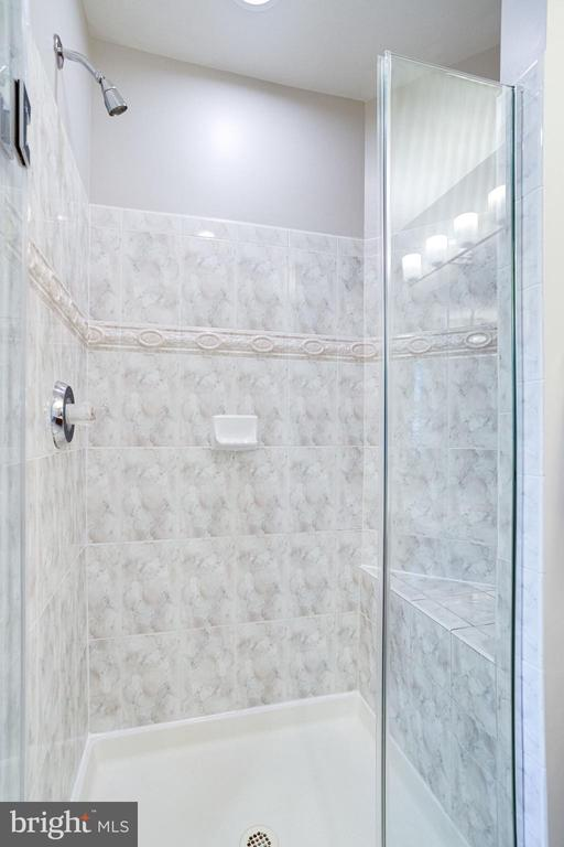 Master bath w/ shower (new door) - 7002 HIGHLAND MEADOWS CT, ALEXANDRIA