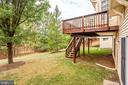 Flat backyard backs to trees and golf course - 3702 MILLPOND CT, FAIRFAX
