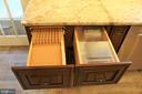 knife drawer and bread box - 7255 RIDGEWAY DR, MANASSAS