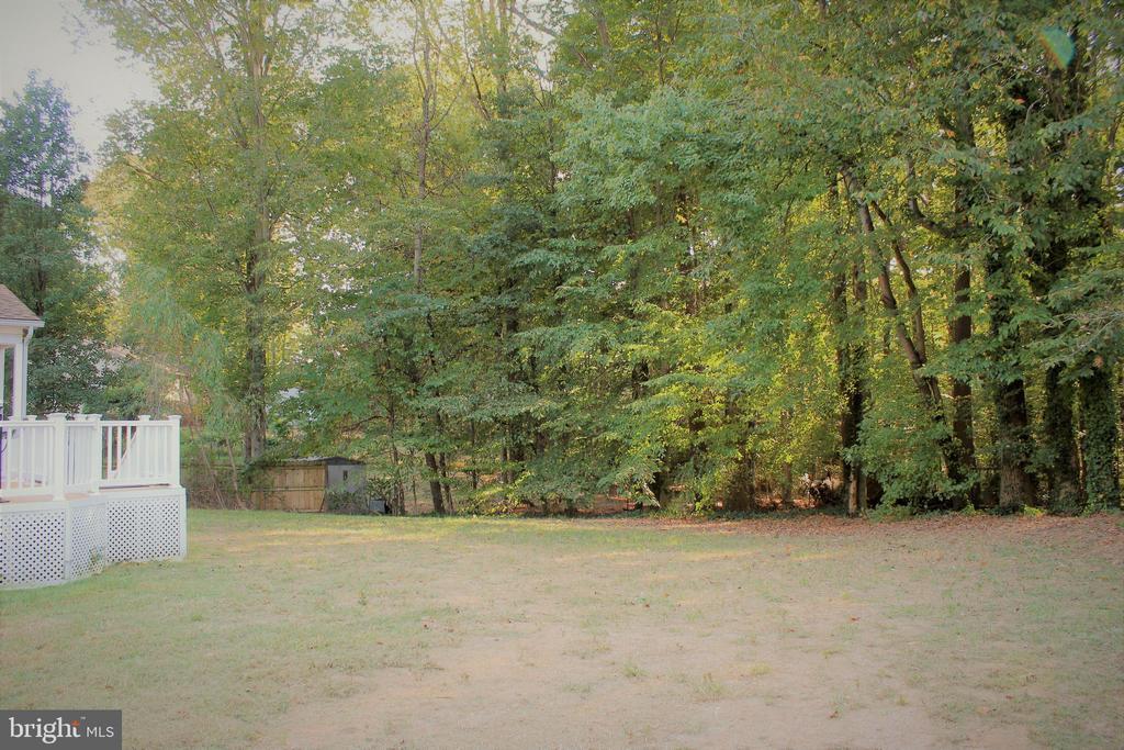 beautiful big back yard w/mature trees - 7255 RIDGEWAY DR, MANASSAS