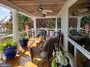 Back porch. Mahogany floor & cedar roof - 1 DEMYAN DR, ANNAPOLIS