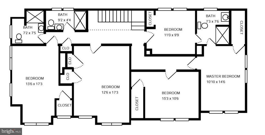 Upper level plan - 6612 BALTIMORE AVE, UNIVERSITY PARK