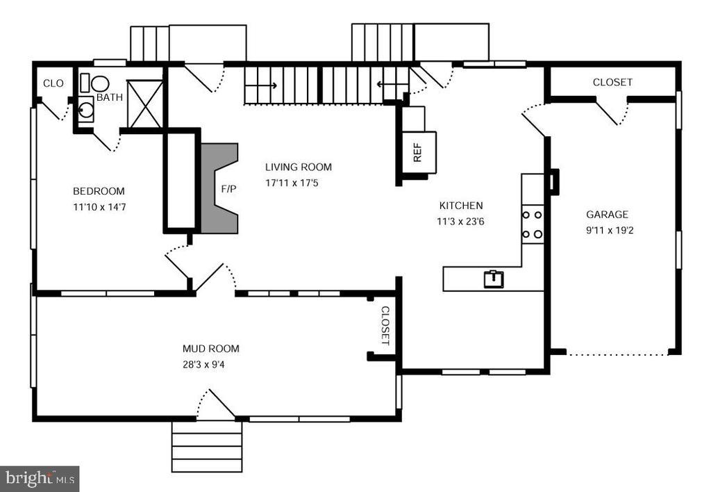 Main floor plan - 6612 BALTIMORE AVE, UNIVERSITY PARK