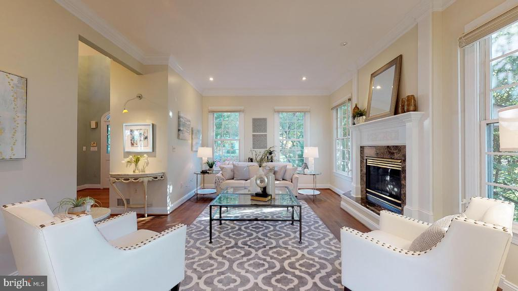 Recessed lights & gas fireplace accent living rm - 4515 32ND ROAD N, ARLINGTON