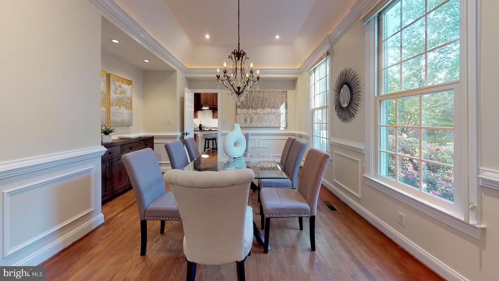 Formal dining room w/ custom moulding - 4515 32ND ROAD N, ARLINGTON