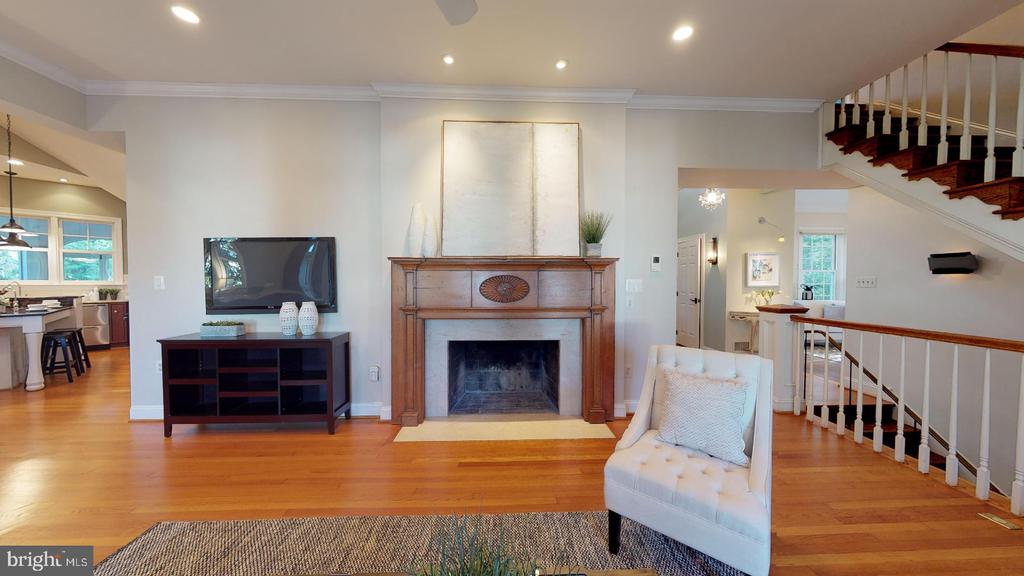 Family room with gas fireplace - 4515 32ND ROAD N, ARLINGTON